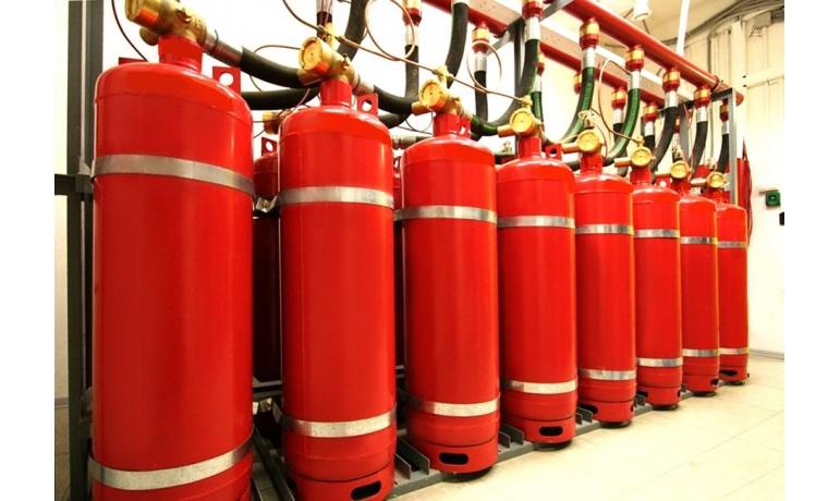 Заправка модулей газового пожаротушения
